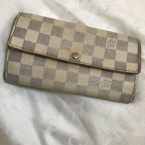 Louis Vuitton Blue Daimer Sarah Wallet